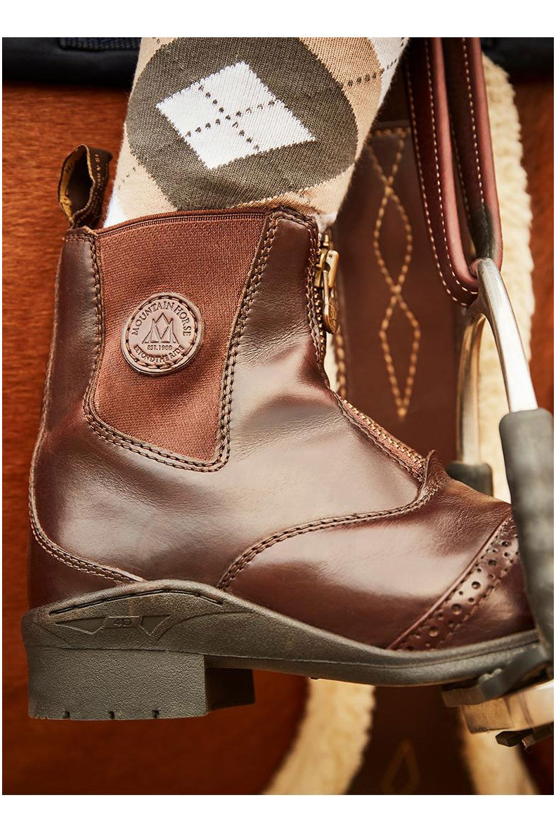 Mountain Horse Womens Aurora Front Zip Paddock Boots Brown