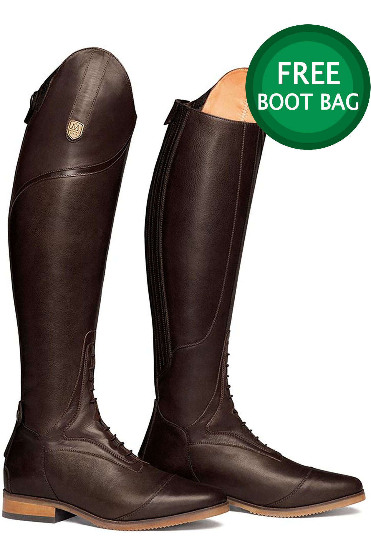 5bf5af8b9a4 Mountain Horse Womens Sovereign High Rider Boots Dark Brown