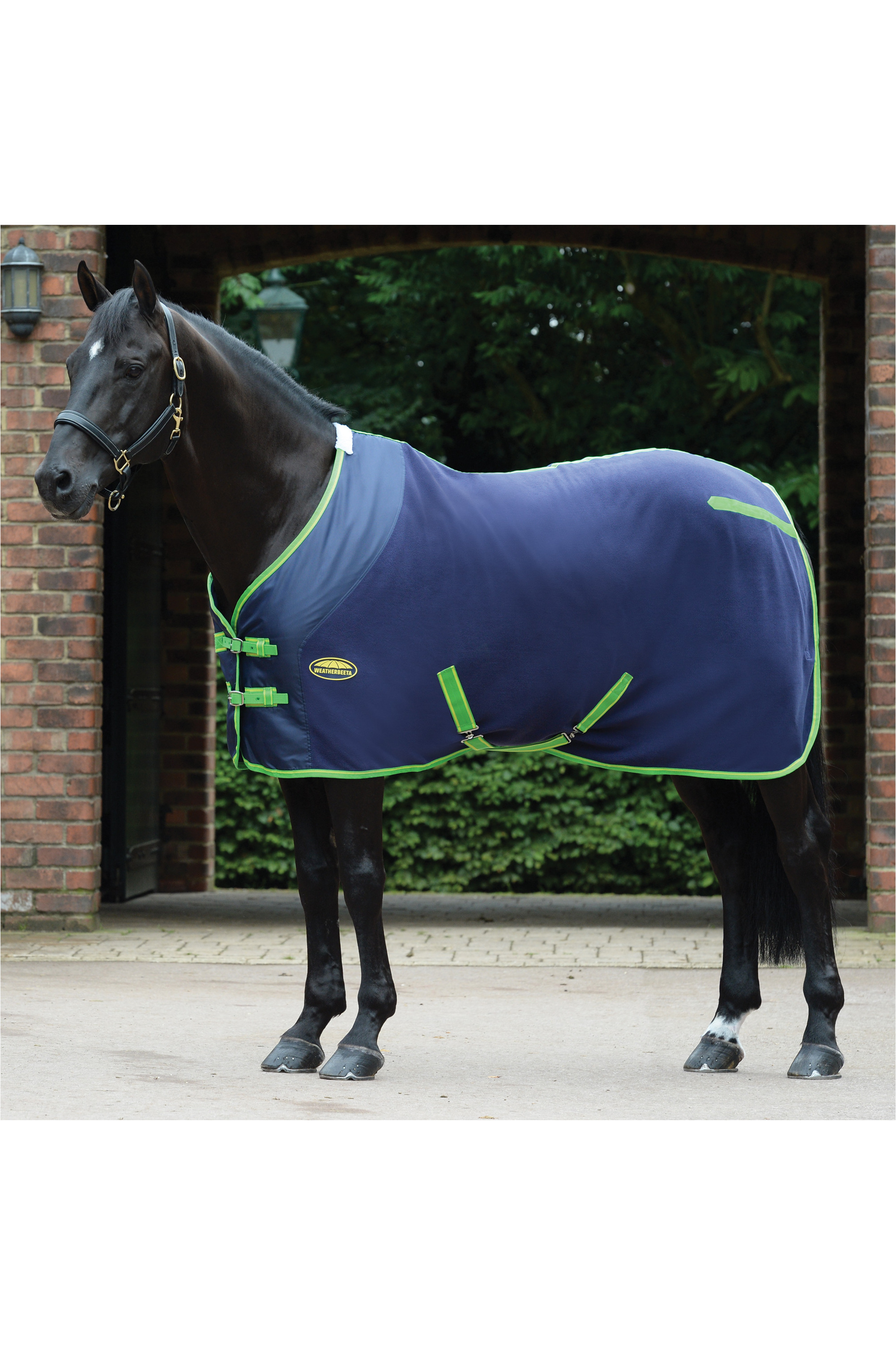 Weatherbeeta Fleece Cooler Standard Neck Navy Lime