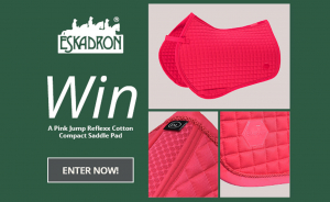 COMPETITION TIME: WIN A PINK JUMP REFLEXX COMPACT SADDLE PAD!