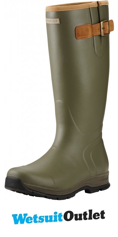 Ariat Men/'s Burford Insulated Wellington Boots Olive Green
