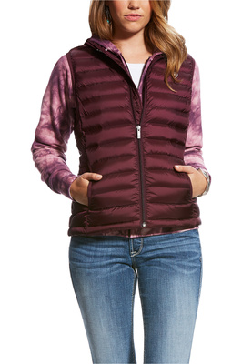 Ariat Womens Ideal Down Gilet Beetroot