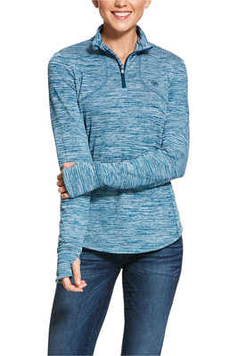 Ariat Womens Gridwork 1/2 Zip Long Sleeve Baselayer - Dream Teal