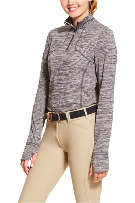 Ariat Womens Gridwork 1/2 Zip Long Sleeve Baselayer - Nine Iron