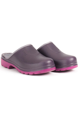 Aigle Taden Womens Ultra-Light Clogs Aubergine / Dahlia