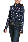 Ariat Girls Lowell 2.0 Long Sleeve Base Layer Shadow Pasture