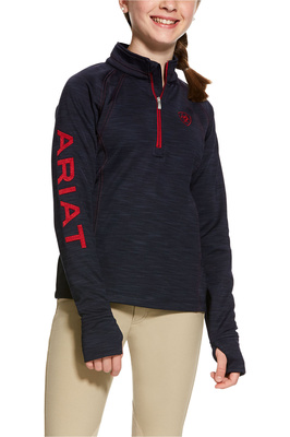 Ariat Girls Tek Team 1/2 Zip Sweatshirt Navy