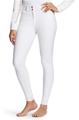 Ariat Womens Tri Factor Grip Knee Patch Breeches White