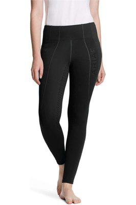 Ariat Womens Attain Thermal Full Seat Insulated Grip Tights - Black