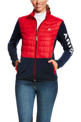 Ariat Womens Capistrano Team Jacket Navy / Red