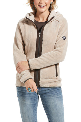 Ariat Womens Dulcet Full Zip Sweatshirt - Covert Beige