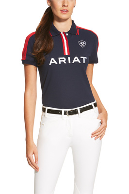 Ariat Womens New Team Polo Navy