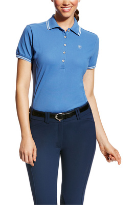 Ariat Womens Prix Polo Blue Saga