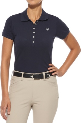 Ariat Womens Prix Polo Navy Eclipse