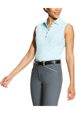 Ariat Womens Prix Sleeveless Polo Sky Drift