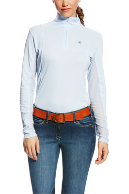Ariat Womens Sunstopper 1/4 Zip Baselayer Blue Cloud