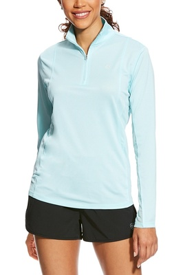 Ariat Womens Sunstopper 1/4 Zip Sky Drift