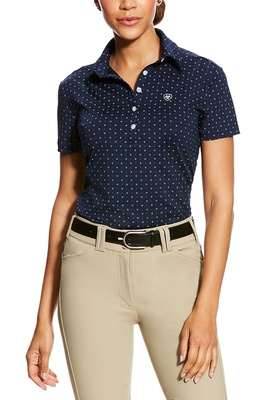Ariat Womens Talent Polo Navy Ditsy