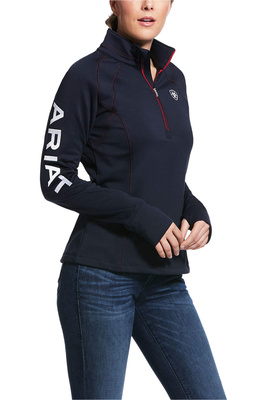 Ariat Womens Tek Team 1/4 Zip Top Navy
