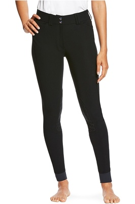Ariat Womens Tri Factor Grip Knee Patch Breeches Black
