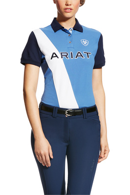 Ariat Womens Taryn Polo Blue Saga