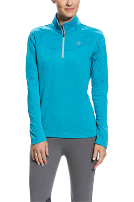 Ariat Womens Conquest Half Zip Mid Layer Top Atomic Blue