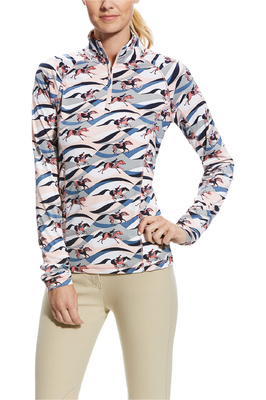 Ariat Womens Lowell 2.0 1/4 Zip Top Flow Print
