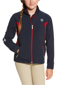 Ariat Childrens New Team Softshell Jacket Navy