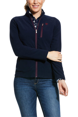 Ariat Womens Basis 2.0 Full Zip Fleece Jacket Navy