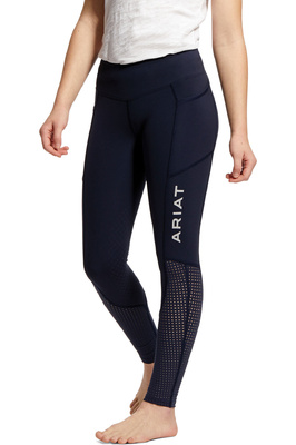 Ariat Youth EOS Knee Patch Tights 10030994 - Navy