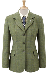 Caldene Maids Competition Jacket Southwold Tweed Check Green