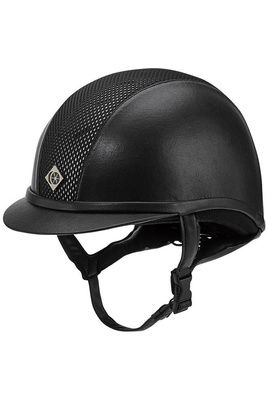 Charles Owen AYR8 Plus Leather Look Helmet Black