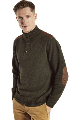 Dubarry Mens Lambert Fleece Top Olive