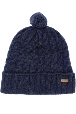 Dubarry Athboy Knited Bobble Hat Navy