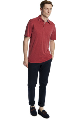 Dubarry Mens Elphin Polo Shirt Ruby Red