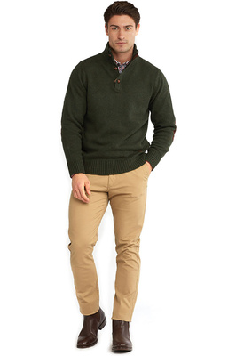 Dubarry Mens Mallon Half Zip Sweater Olive