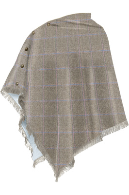 Dubarry Womens Hazelwood Tweed Poncho Woodrose