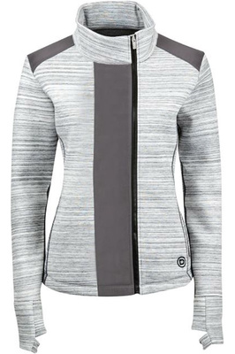 Dublin Womens Joda Zip Thru Top Charcoal