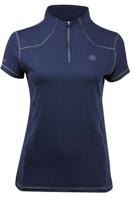 Dublin Womens Diamond Short Sleeve Performance Top Navy