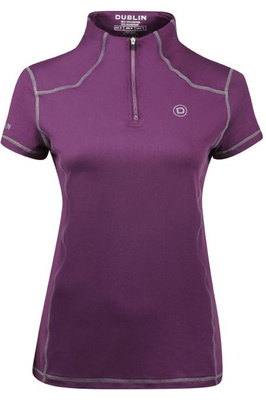 Dublin Womens Diamond Short Sleeve Performance Top Plum