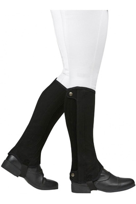 Dublin Childrens Easy-Care Premier Half Chaps Black