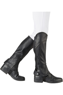 Dublin Stretch Fit Half Chaps Black