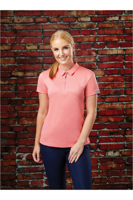 Dublin Womens Columba Short Sleeve Tech Polo Shirt Pink