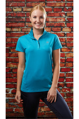 Dublin Womens Glencoe Short Sleeve Performance Top Aqua