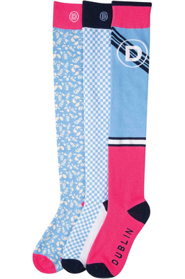 Dublin Womens Marianne Country 3 Pack of Socks Chambray