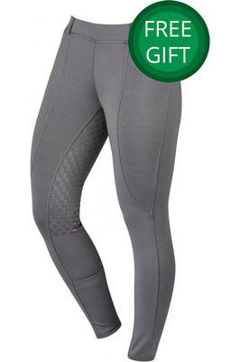 Dublin Womens Performance Cool-It Gel Riding Tights Charcoal