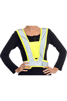Equisafety Childrens Reflective Hi Vis Adjustable Body Harness Yellow