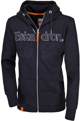 Eskadron Mens Hinz Hooded Top Navy