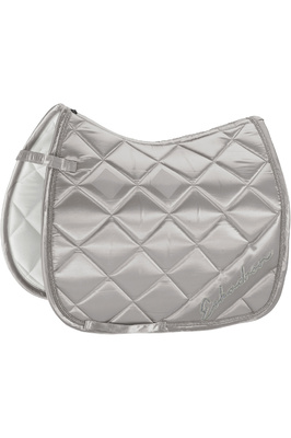 Eskadron Satin Diagonal Saddle Pad - Cool Grey