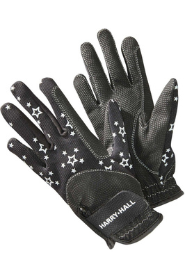 Harry Hall Childrens Roxby Reflective Gloves Black